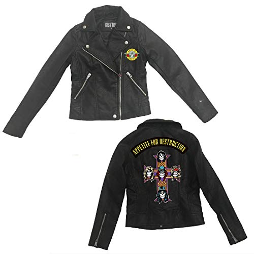 Guns N' Roses Official Store GNR Youth AFD Kinder Jacke - Schwarz - Small