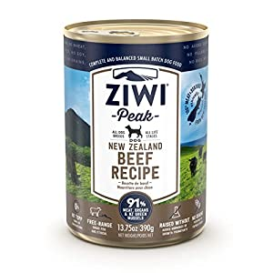 ZIWI Peak Canned Wet Dog Food – All Natural, High Protein, Grain Free & Limited Ingredient, with Superfoods
