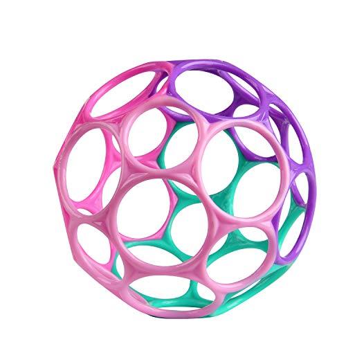 Bright Starts, Oball Classic, Flexibles und leicht Greifbares Design für Kinder jeden Alters, Pink/Lila