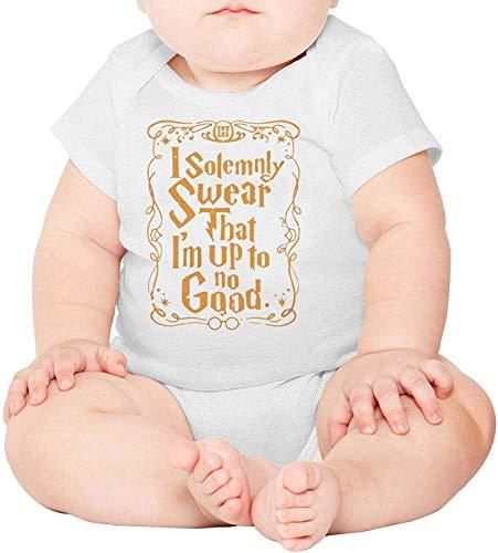 Allforenjoy Baby Giuro solennemente Che Non Ho Niente di Buono in Oro Body per Tutina a Maniche Corte