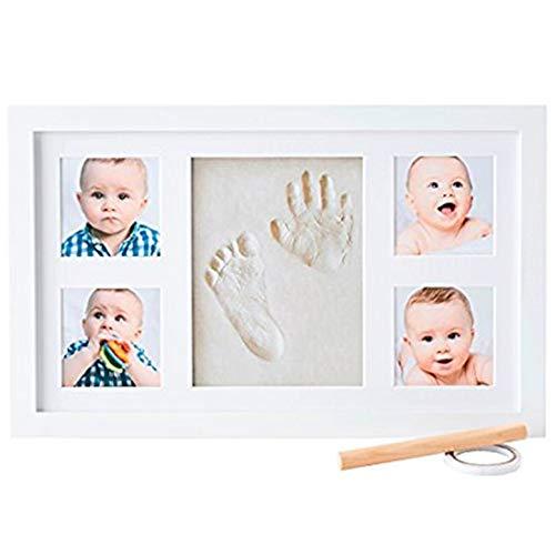 Baby handabdruck und fußabdruck im Baby Bilderrahmen - baby abdruckset Gipsabdruck oder Stempelkissen baby hand und fuß Geschenkideen - baby fuss und handabdruck baby geschenk für Neugeborene #16