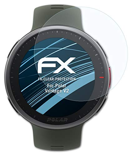 atFoliX Schutzfolie kompatibel mit Polar Vantage V2 Folie, ultraklare FX Bildschirmschutzfolie (3X)