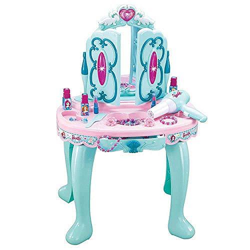 Best For Kids Schminktisch für Prinzessin mit vielen Accessoires und Spiegel in rosa