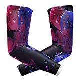 jiadourun Life in a Different World from Zero Arm Sleeves UV Sun Protection for Men and Women Outdoor Sports Compression Arm Guard 1 Pair