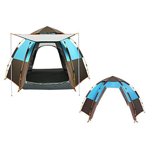 Lian tent voor 4-6 personen, volautomatische zeshoekige onweer, dikke camping, huishoudtent, snelheid open grote ruimte, zonwering, goede ventilatie, vierseizoenen tent