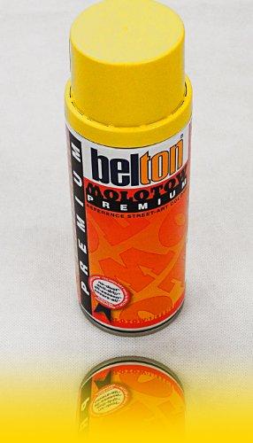Molotow Premium Spray Paint Can 400ml, Colour: 002 - Zinc Yellow