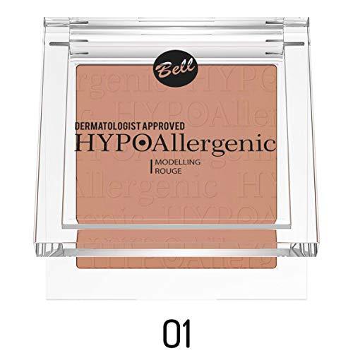 Colorete de maquillaje Bell, hipoalergénico, n.º 01. Dermatológicamente testado.