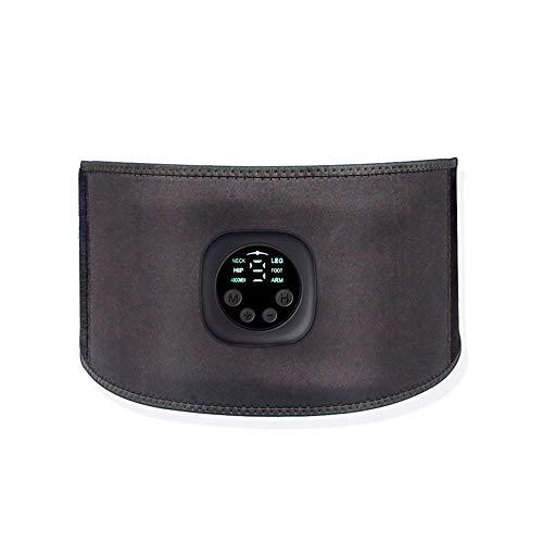 Festnight Inteligente Unisex USB Recargable Fitness Trainer Cinturón Pantalla LED Estimulador Muscular eléctrico Pegatina Muscular Abdominal Dispositivo de Entrenamiento Muscular casero