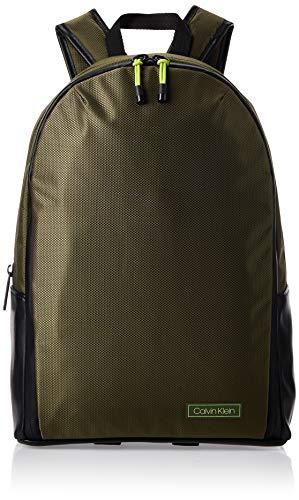 Calvin Klein Revealed Round Backpack, Herren Schultertasche, Grün (Dark Olive), 0.1x0.1x0.1 cm (W x H L)