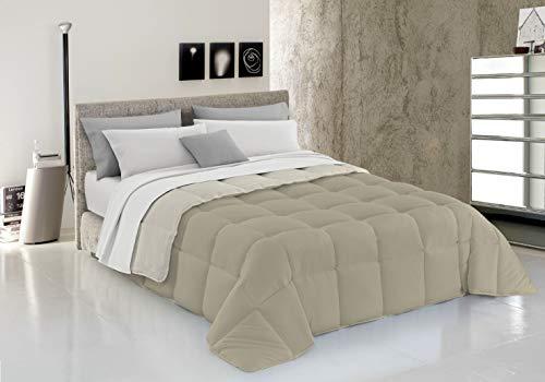 Italian Bed Linen Trapunta Invernale, Tortora/Panna, 260 X 260 Cm