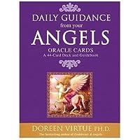 デイリーガイドエンジェルカード、エンターテインメントポーカーオラクルカードボードゲームタロットエンジェルオラクル、1セットの44エンジェルタロットカード、Doreendriven Radley Psychic Oracle English Card Game