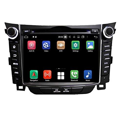 7 Zoll Touchscreen Android 10.0 Autoradio für Hyundai Elantra GT/I30(2011-2018), 4 GB RAM+32 GB ROM, DVD Player Bluetooth GPS Navigation DAB+ Radio Haupteinheit