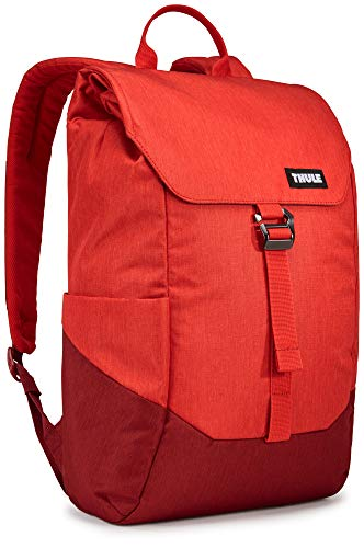 Thule 16 Litre Lithos Backpack with 15 Inch Laptop Compartment, Red