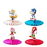 ♥ Package - You'll get 4 set Party Centerpiece decorations for Sonic theme. ♥ Suitable Size - The approximate size of the party decoration is shown in the picture. Its decorative size is suitable for most party. ♥ Easy to Assemble - Coming Centerpiec...