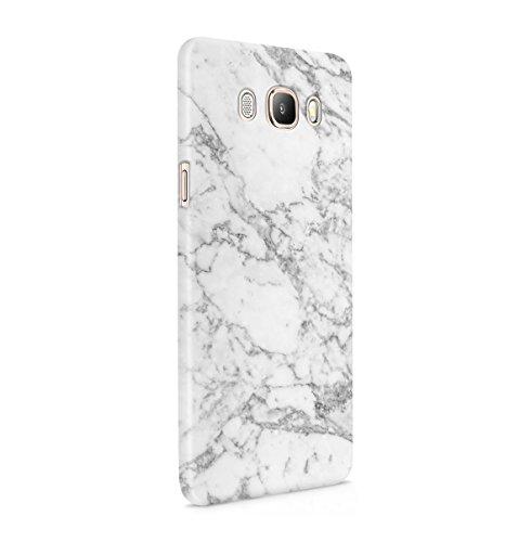 Natürlicher Weicher Grauer Marmor Stone Print Dünne Handy Schutzhülle Hardcase Aus Hartplastik Hülle Kompatibel mit Samsung Galaxy J5 2016 Handyhülle Case Cover