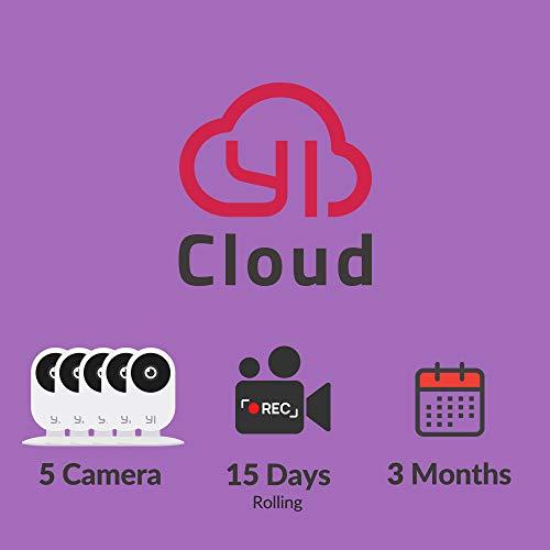 YI Kami Cloud Plan 3 Month, 5 Camera, 15d rolling storage service [PC Mac Online Code]
