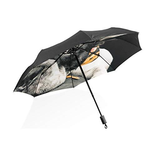 Junge Kinder Regenschirm Flugzeug schließen Französische Bulldogge tragbare kompakte Taschenschirm Anti-UV-Schutz Winddicht Outdoor-Reisen Frauen Regenschirm