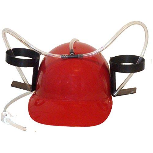 Roter Trinkerhelm Scherzartikel Partygag Helm für Dosen & Flaschen Säuerfhelm