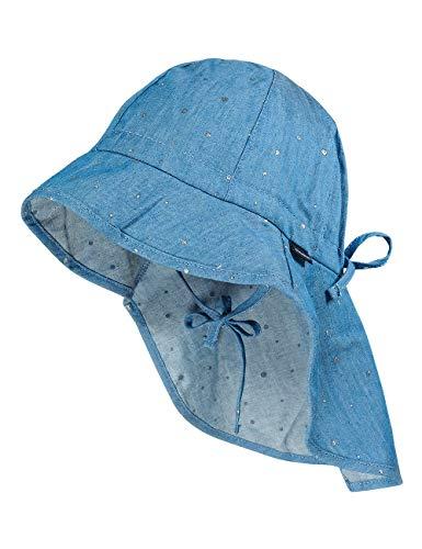 maximo Mädchen Nackenschutz Sonnenhut, Denim Blue, 49
