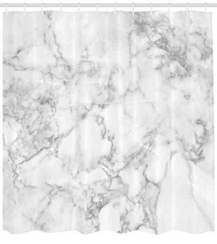 Dor675ser Duschvorhang, 183 x 200 cm, Marmor-Duschvorhang, Granit mit Punkten