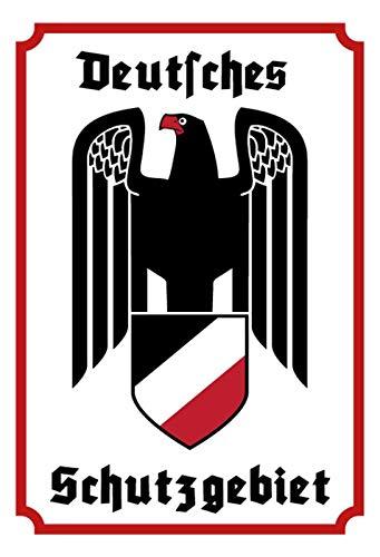 Schatzmix Deutsches Schutzgebiet mit Adler Metallschild Deko 20x30 tin Sign Blechschild, Blech, Mehrfarbig, 20x30 cm