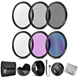 Zeikos 67MM Neutral Density Filter Set (ND2 ND4 ND8), Multi-Coated UV-CPL-FLD Filter Set, Tulip Flower, and Rubber Collapsible Lens Hood, Lens Cap and Lens Cap Keeper with Pouch and Microfiber Cloth