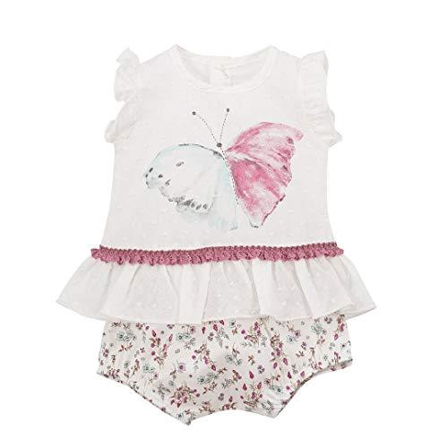CALAMARO - Conjunto POLOLO Bebe bebé-niños Color: Rosa Talla: 12M