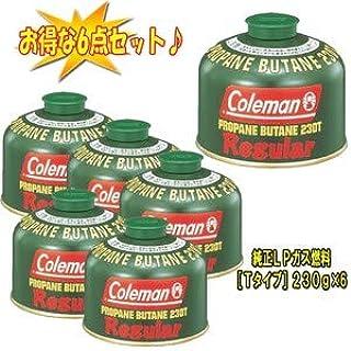 Coleman(コールマン) 純正LPガス燃料[Tタイプ]230g【お得な6点セット】