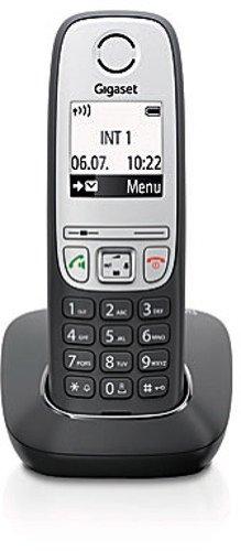 Gigaset A415 Schnurloses Telefon ohne Anrufbeantworter (DECT Telefon, mit Freisprechfunktion, Grafik Display und leichter Bedienung) schwarz