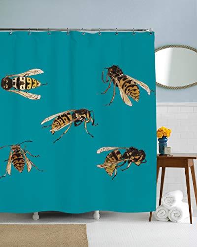 Mike21Browne Insekt Duschvorhang Biene Duschvorhang Insekt Thema Badezimmer Dekor Biene Illustration Hipster Geschenke Insekt Badezimmer Einzigartige Geschenke