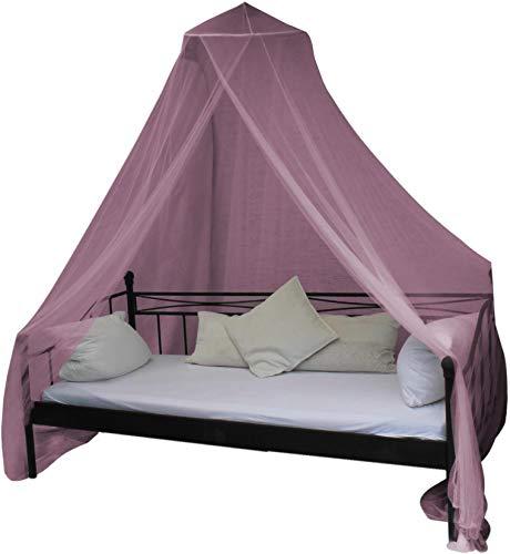 normani Mobiles Moskitonetz - Insektenschutz für In- und Outdoor - für Einzel- und Doppelbetten Farbe Pink
