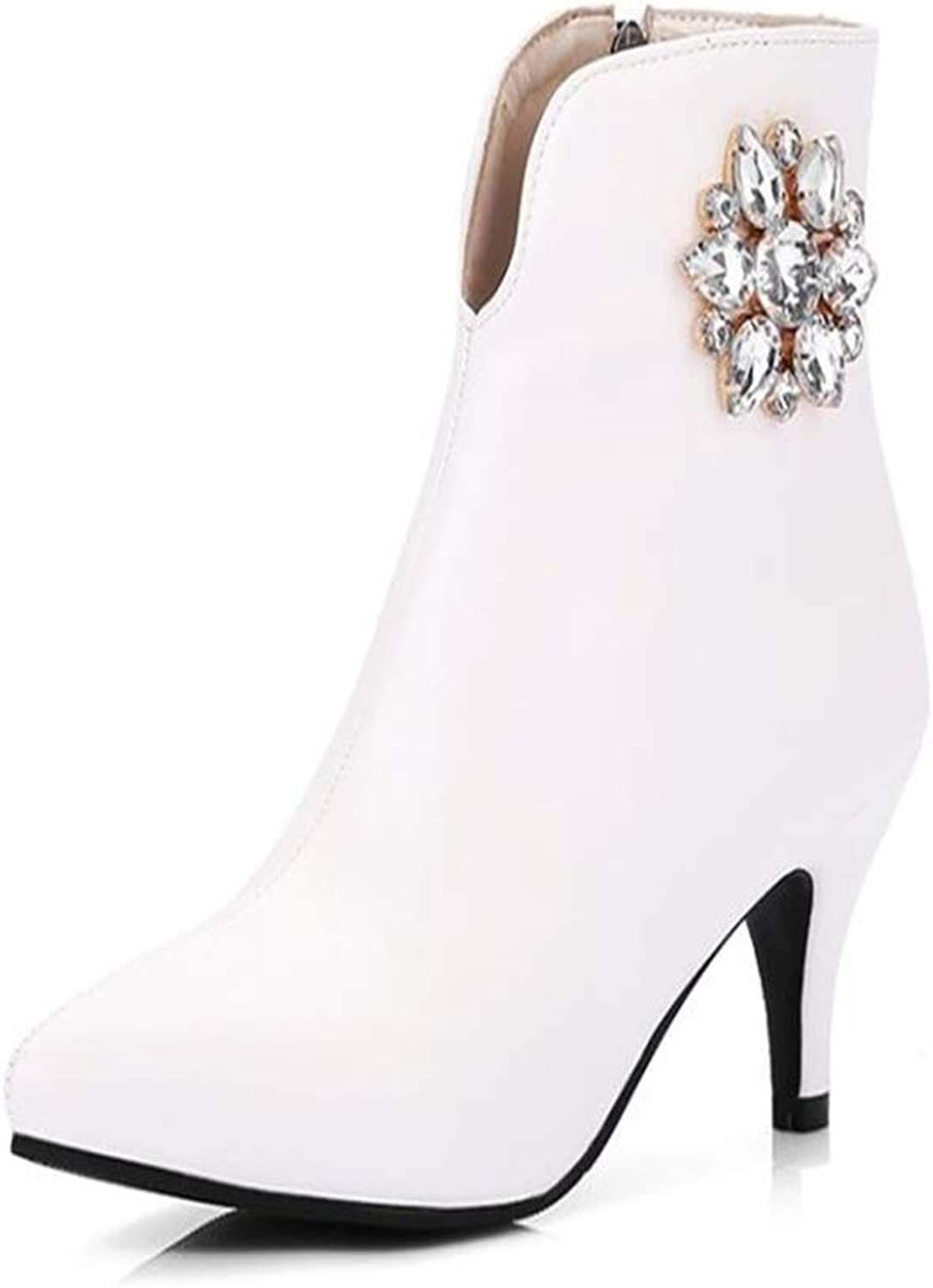 Gusha Women's Stiletto Boots Ankle Boots Pointed Toe Ankle Boots Elegant high Heels