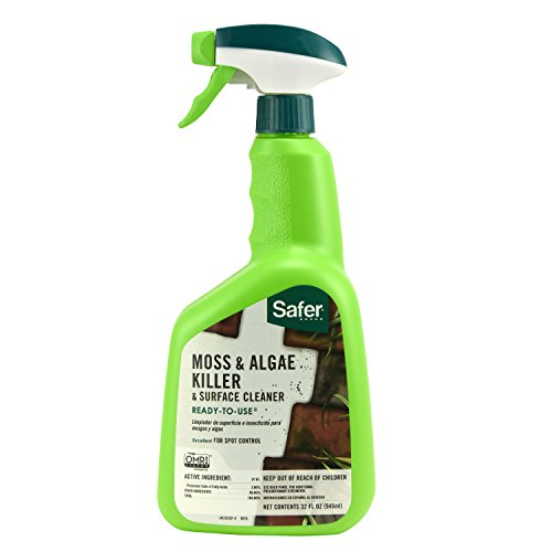 Safer Brand 5325-6 SafeSafer Brand 32Ounces 5325 Moss and Algae Killer and Surface Cleaner Ready to Use 32O, 1 Pack