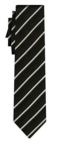 BOSS Seidenkrawatte fine stripe black