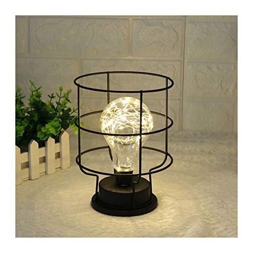 YSHSPED Lámpara Escritorio Lámpara de Mesa de Estilo Retro Creativo Linterna de Cobre Funnel Diamante Modelado de la Cama Lámpara de Noche Decoración de Mesa (Lampshade Color : Funnel Modeling)