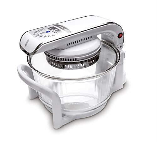 Rotel Paco Master 197EU1 Air Power System Multi-Kochgerät zum Grillen, Backen, Braten, Frittierem, Dämpfen u.v.m - hochwertige Glasschale und digitales Bedienfeld mit 10 Funktionen