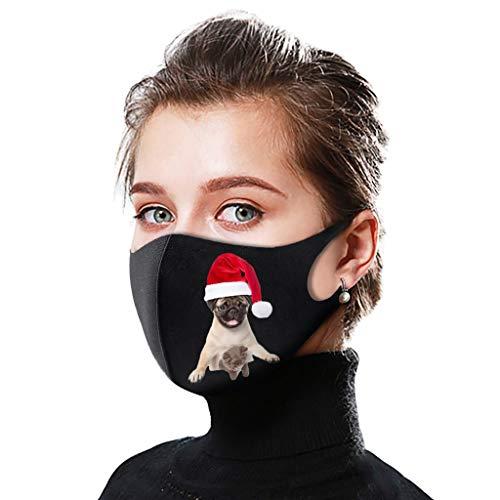 SPORTTIN Christmas 1PC Unisex Adult Reusable Washable Dustproof Soft Breathable Adjustable Xmas Cute Animal Printed(B)