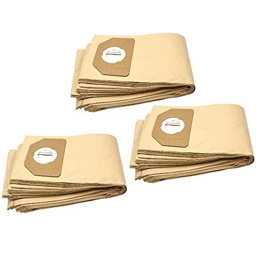 vhbw 30x bolsa compatible con Parkside (Lidl) PAS500B1, PNTS 1250, PNTS1300, PNTS1300/A1, PNTS1400 aspiradora - papel, marrón