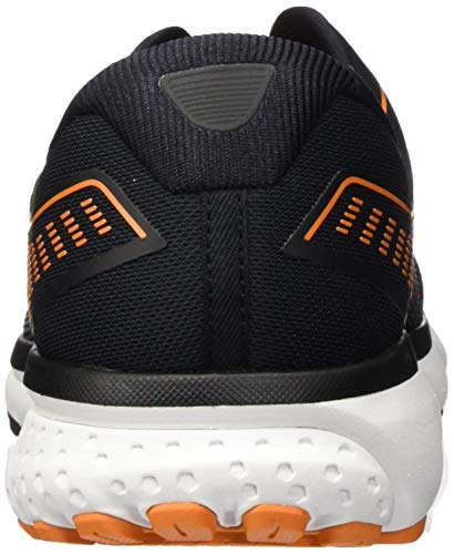 Brooks Men's Mid-Top Sneaker, Black Turbulence Orange, 7.5 US