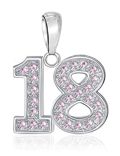 LSDesigns 18 Charm Bead fits Pandora Charms for Women Moments Snake Chain Bracelet - S925 Sterling Silver Happy Birthday 18th