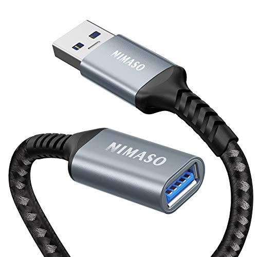 NIMASO Cable Alargador USB 3.0 1M,Cable Extension USB Tipo A Macho A...
