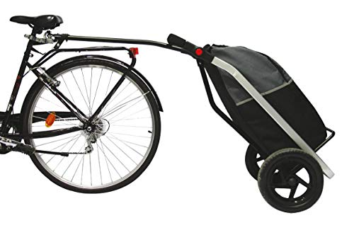 Bike Original Shopping Trailer Trolley Unisex Erwachsene, Schwarz/Grau