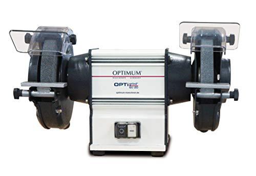 Optimum Doppelschleifmaschine OPTIgrind GU 20 (Industrieausführung, wartungsfreier Motor, Funkenschutz), 3101515