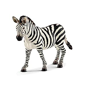 SCHLEICH Wild Life, Animal Figurine, Animal Toys for Boys and Girls 3-8 Years Old, Female Zebra - 41xXrf5S5EL - SCHLEICH Wild Life, Animal Figurine, Animal Toys for Boys and Girls 3-8 Years Old, Female Zebra