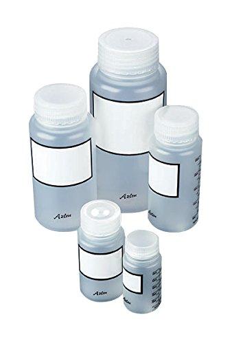 Azlon BWP0500PGRAD Weithals-Flasche aus Kunststoff, Polypropylen, mit Skala, 500ml, 10Stück