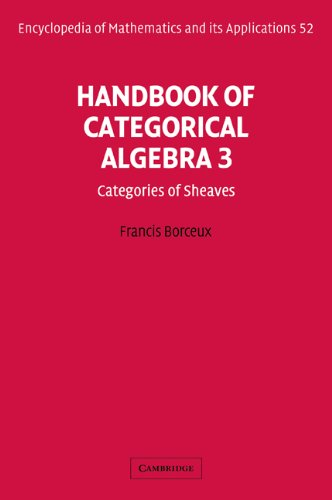 Handbook of Categorical Algebra: Volume 3, Sheaf Theory (Encyclopedia of Mathematics and its Applications)