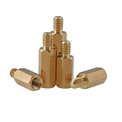 Paal-paalschroef koper zeskant ingangspalen mainboard steunpalen isolatiepalen koperen bouten met eenzijdige kop palen koperen palen 3 * 40 + 6 Mm