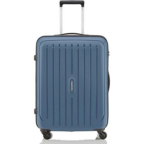Travelite Valise trolley Uptown avec 4 roues Taille M bleu marine Maleta, 65 cm, 70 liters, Azul (Bleu Marine)