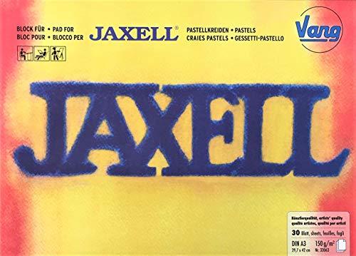 Vang Jaxell 33063 - Set mit 3 Blöcke für Pastellkreiden in Künstlerqualität - DIN A3 (29,7 x 42 cm) 150g/m² - 3 x je 30 Blatt