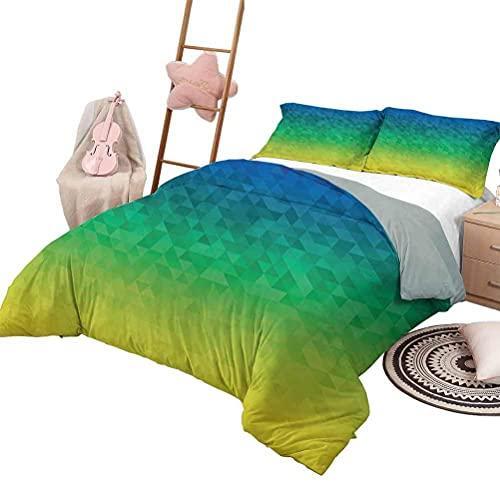 Quilt Bettwäsche Set Gelbe und Blaue Tagesdecke Bettdecke für alle Jahreszeiten Mosaik Portugiesisch Azulejo Mediterran Arabesque Effekt Volle Größe Violett Blau Senf Weiß